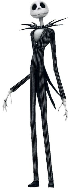 "*JACK SKELLINGTON ~ the pumpkin king. He loves to scare people out of their wits. Headstrong, confident, + likes grand gestures. Now he's working night + day to make this year's Halloween festival the greatest ever. He scared up some fun in ""Tim Burton's The Nightmare Before Christmas"", 1993"