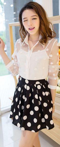 Sets Organza chiffon blouse blouse shirt skirt tank tops £9.99
