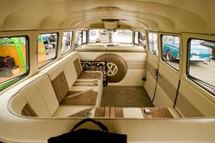 Sweet Custom VW Bus Interior. A little much for me but it is cool anyway!