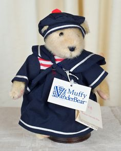 1982 Sailor Muffy Vanderbear  Mint Condition by TheVintageBearShop