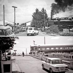 Viejas fotos que me gustan. Paso a nivel del #ferrocarril con #carretera. Villanueva de la Serena (Badajoz). Originales: D. S. Cordero. #lascarreterasdeExtremadura #ffccExtremadura
