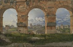 View through three arches of the Colosseum's third storey Christoffer Wilhelm Eckersberg 1815-1816