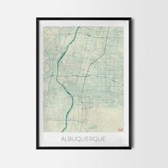 Albuquerque art posters and prints of your favorite city. Unique design of Albuquerque map. Perfect for your house and office or as a gift for friend. Map Print - Minimalist City Map Art Poster - Interior Ideas, Wall Art Gift, Cool Art Prints, Unique Map Posters, Cheap Bedroom Gifts, Decorative Design