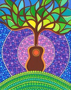 Guitar harmonic energy by Elspeth McLean