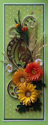 neli: Quilling card - flowers ( 9 cm - 20 cm )