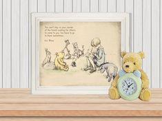 Classic Pooh, Pooh Nursery, Pooh Illustration, Pooh Drawing, Pooh Bear, Classic Pooh Prints, Classic Pooh, Nursery Print, Nursery Deco, Childrens Wall Art, Pooh Bear, Classic Books, Nursery Prints, Creative Art, Baby Shower Gifts, Kids Room, My Arts, Art Prints