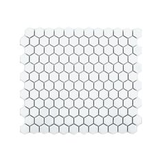 Hexagon White Gloss (2.3cm x 2.3cm) 30cm x 26cm Mosaic Tile