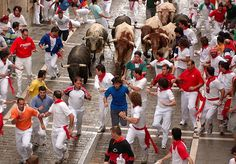 Running with the Bulls! Crazy people. Visiting Pamplona for the famous Bull Run in July. Would you go?