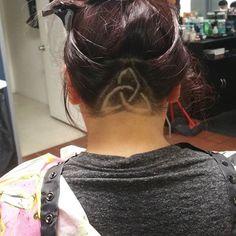 Celtic knot undercut women