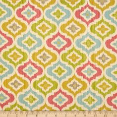 Waverly Lunar Lattice Twill Golden from @fabricdotcom  Screen printed on cotton twill, this versatile lightweight (approx. 5.4 ounce) fabric is perfect for window treatments (draperies, valances, curtains and swags), toss pillows, bed skirts, duvet covers, some upholstery and other home decor accents. Create handbags, apparel (skirts, lightweight jackets, pants) and aprons. Colors include coral red, blue, golden, olive , taupe and metallic gold on a cream background.  This fabric has 51,000…