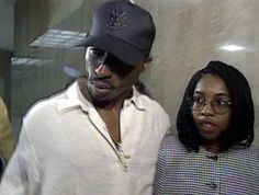 Tupac Shakur with his attorney.