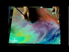 Stephen Turnor - The Art Tutor - Liquid Acrylic Film Technique - YouTube