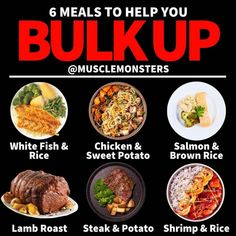Meal Prep Weight Gain, Gain Weight Fast, Healthy Weight Gain, Losing Weight, Top 10 Healthy Foods, Healthy Meal Prep, Healthy Eating, Healthy Recipes, Food To Gain Muscle