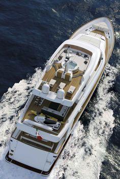 Arial view of the Navetta-33-Crescendo-Motor-Yacht-by-Ferretti-Custom-Line-4(Small Swimming pool!)