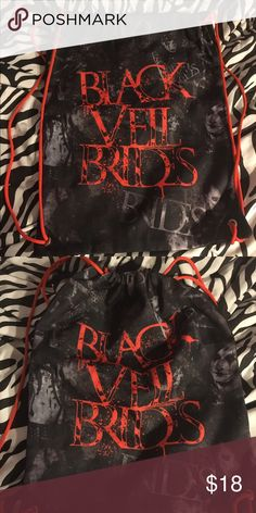 Black veil brides drawstring backpack Used a lot but still in good condition! Hot Topic Bags Backpacks