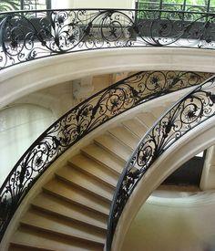 Staircase The Petit Palais- Musée des Beaux-Arts de la Ville de Paris (France) . Designed by Charles Girault
