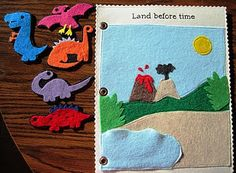 A dinosaur quiet book page! Awesome!