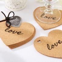 Heart Cork Coasters - Set of 4 - Things Engraved