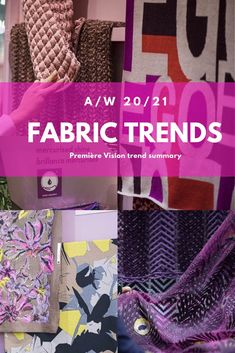 Short overview of the trends for A/W at Premier Vision in September fabrics, trims,colour palette and innovative textiles for fashion, activewear and casualwear. Fashion Fabric, Fashion Prints, Textile Design, Fabric Design, Premier Vision, Iridescent Fabric, Trend Fabrics, Fashion Forecasting, New Fashion Trends