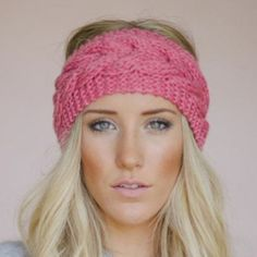 NWT Raspberry Pink Warm Knitted Headband This is wide enough to keep your head and ears warm on a cold day! It looks super on and is a beautiful shared if pink Boutique Accessories Hats