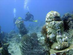 The Underwater Temple Garden, Bali