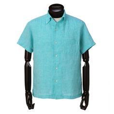 Paul Stuart MENS ポール・スチュアート メンズ|シャツ・ブラウス|半袖 麻シャツ|盛夏に向けてさらっと1枚で着用していただける1枚です。パンツアウトで着用するように短めに設定された着丈はスッキリとした印象を与え、ショートパンツやイージーパンツとの相性が優れている一品となっています。ポール・スチュアートらしいきれいな色を是非1着お試しください。