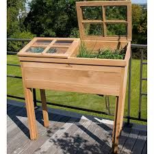image result for tall wooden planter boxes - Wooden Planter Boxes