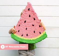 Cet été on se fait plaisir et on fait plaisir à nos kids par la même occasion :) La Monkies team vous a déniché des idées pour organiser une SUPER FIESTA sur le thème de la pastèque !