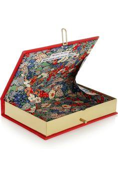 Olympia Le-Tan|Le Rouge Et Le Noir embroidered clutch|NET-A-PORTER.COM