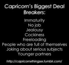 Capricorn Deal Breakers