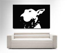 bull terrier canvas art