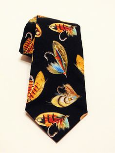 Fishing Necktie Fishing Tie Fishing Lure Necktie by EdsNeckties