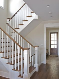 Craftsman Style Stairs Davidson Home Much more than just a boring staircase! Style Stairs Davidson Home Much more than just a boring staircase! Craftsman Style Stairs Davidson Home Much more than just a Craftsman Staircase, House Staircase, Staircase Remodel, Staircase Makeover, Staircase Railings, Banisters, Entry Stairs, Stair Risers, Stairs In Homes
