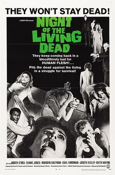How George Romero found the perfect music for his zombie horror classic, 'Night of the Living Dead' Horror Movie Posters, Classic Movie Posters, Classic Movies, Classic Tv, Best Indie Movies, Best Horror Movies, Horror Films, Indie Films, Horror Books