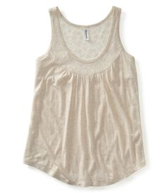 Lace Trim Tank from Aéropostale