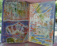 White Pen and Colorful Backgrounds - Patty Szymkowicz
