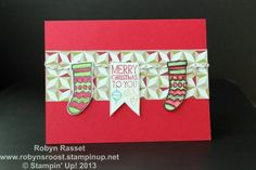 Christmas Stockings created with the Color Me Christmas Stamp Set go to www.robynsroost.stampinup.net for more ideas