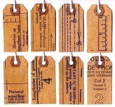 vintage patterns + tags