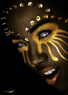 by Carlos Santero Model: Claudia Coba Sanchez H&M: Make up Artist Francis… Black Girl Art, Black Women Art, Black Girl Magic, Black Art, Art Girl, African Beauty, African Art, Black Pics, Afro Art