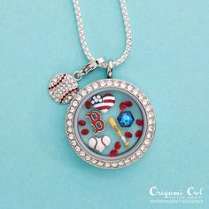 Calling all Boston Fans! What a great way to show what a true and dedicated fan you are! Create yours today. MLB official charms are in. Visit: www.NatisStoryLockets.origamiowl.
