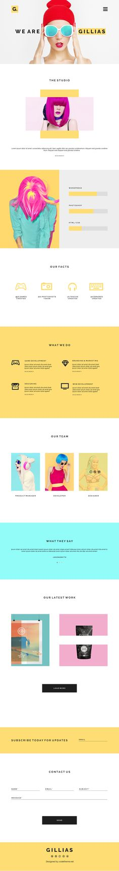 Gillias an Agency Web Design on Behance