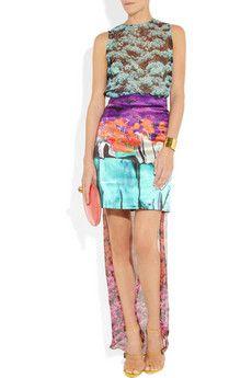 Mary Katrantzou top (with train) and skirt