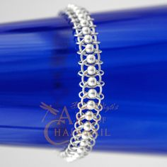 Chainmail Patterns | Sterling Silver Chainmail Bracelet – Centipede Pattern | Flickr ...