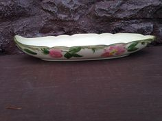 Franciscan Desert Rose Oval Celery Relish Dish Pickle Tray / Vintage USA Collectible China Replacement by ThePinkVintageRose on Etsy Desert Rose Dishes, Franciscan Ware, Antique Dishes, The Dish, Earthenware, Celery, Cupboard, Pickles, 1940s