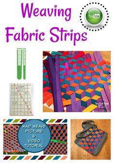 Triaxial Fabric Weave - Mad Weave. Watch the YouTube video to see how easy it is to make a fabric weave panel from bias strips!