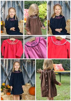 Girls Monogrammed Fall and Winter Dresses by Inlet Kids.  Starting at $48