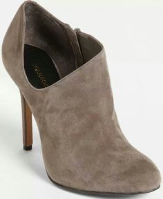 Brown suede bootie