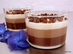Vasitos de tres chocolates