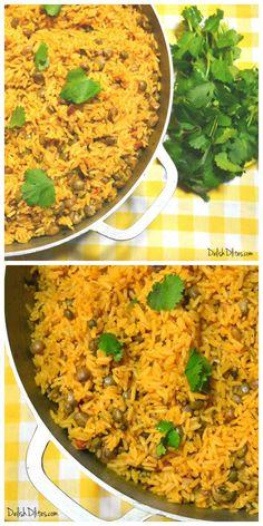 Arroz Con Gandules (Puerto Rican Rice and Pigeon Peas) | Delish D'Lites