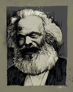 Karl Marx art print 10x8 by Mygrimmbrother on Etsy